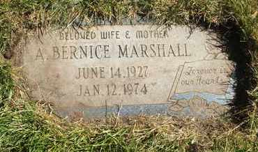 MARSHALL, A. BERNICE - Coconino County, Arizona | A. BERNICE MARSHALL - Arizona Gravestone Photos