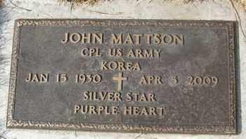 MATTSON, JOHN - Coconino County, Arizona | JOHN MATTSON - Arizona Gravestone Photos