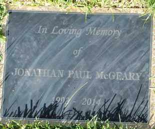 MCGEARY, JONATHAN PAUL - Coconino County, Arizona   JONATHAN PAUL MCGEARY - Arizona Gravestone Photos