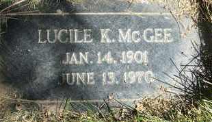 MCGEE, LUCILE K. - Coconino County, Arizona | LUCILE K. MCGEE - Arizona Gravestone Photos