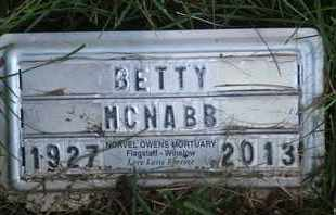 MCNABB, BETTY - Coconino County, Arizona | BETTY MCNABB - Arizona Gravestone Photos