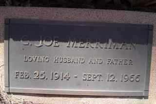 MERRIMAN, C. JOE - Coconino County, Arizona | C. JOE MERRIMAN - Arizona Gravestone Photos