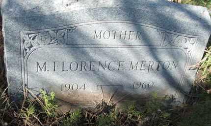 MERTON, M. FLORENCE - Coconino County, Arizona | M. FLORENCE MERTON - Arizona Gravestone Photos