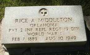 MIDDLETON, RICE A. - Coconino County, Arizona | RICE A. MIDDLETON - Arizona Gravestone Photos