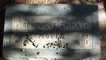 MOYER, GENEVIEVE EMMA - Coconino County, Arizona   GENEVIEVE EMMA MOYER - Arizona Gravestone Photos