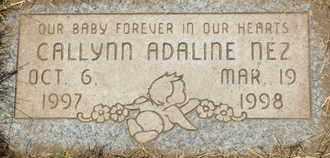 NEZ, CALLYN ADALINE - Coconino County, Arizona | CALLYN ADALINE NEZ - Arizona Gravestone Photos