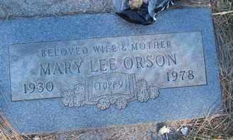 ORSON, MARY LEE - Coconino County, Arizona | MARY LEE ORSON - Arizona Gravestone Photos
