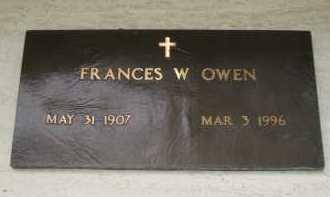 OWEN, FRANCES W - Coconino County, Arizona   FRANCES W OWEN - Arizona Gravestone Photos