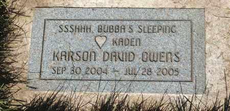 OWENS, KARSON DAVID - Coconino County, Arizona | KARSON DAVID OWENS - Arizona Gravestone Photos