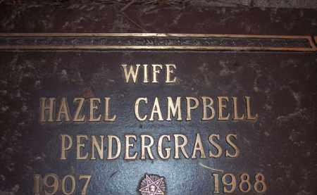 PENDERGRASS, HAZEL - Coconino County, Arizona | HAZEL PENDERGRASS - Arizona Gravestone Photos