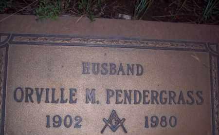 PENDERGRASS, ORVILLE M - Coconino County, Arizona   ORVILLE M PENDERGRASS - Arizona Gravestone Photos