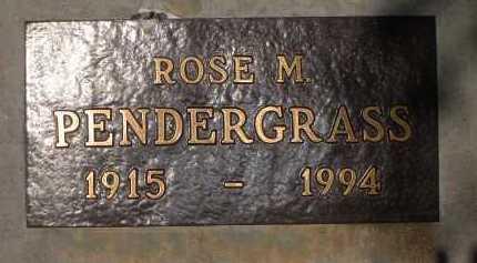 PENDERGRASS, ROSE M. - Coconino County, Arizona | ROSE M. PENDERGRASS - Arizona Gravestone Photos