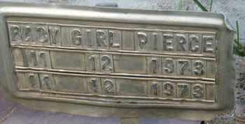 PIERCE, BABY GIRL - Coconino County, Arizona | BABY GIRL PIERCE - Arizona Gravestone Photos