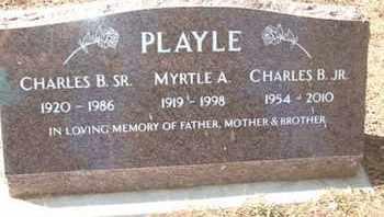 PLAYLE, MYRLE A. - Coconino County, Arizona   MYRLE A. PLAYLE - Arizona Gravestone Photos