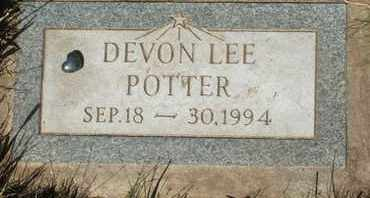 POTTER, DEVON LEE - Coconino County, Arizona | DEVON LEE POTTER - Arizona Gravestone Photos