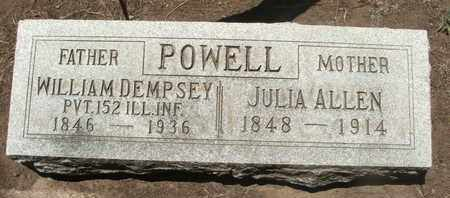 POWELL, WILLIAM DEMPSEY - Coconino County, Arizona   WILLIAM DEMPSEY POWELL - Arizona Gravestone Photos