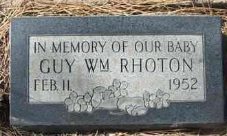 RHOTON, GUY WILLIAM - Coconino County, Arizona | GUY WILLIAM RHOTON - Arizona Gravestone Photos