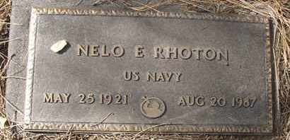 RHOTON, NELO E. - Coconino County, Arizona | NELO E. RHOTON - Arizona Gravestone Photos