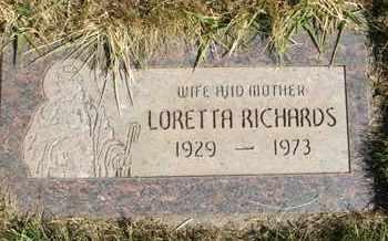 RICHARDS, LORETTA - Coconino County, Arizona | LORETTA RICHARDS - Arizona Gravestone Photos
