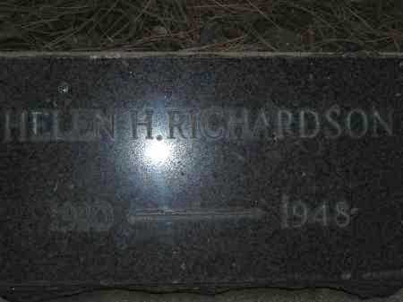 RICHARDSON, HELEN H - Coconino County, Arizona | HELEN H RICHARDSON - Arizona Gravestone Photos