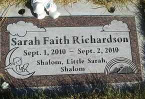 RICHARDSON, SARAH FAITH - Coconino County, Arizona | SARAH FAITH RICHARDSON - Arizona Gravestone Photos