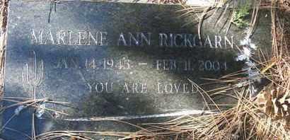 RICKGARN, MARLENE ANN - Coconino County, Arizona | MARLENE ANN RICKGARN - Arizona Gravestone Photos