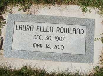 ROWLAND, LAURA ELLEN - Coconino County, Arizona | LAURA ELLEN ROWLAND - Arizona Gravestone Photos