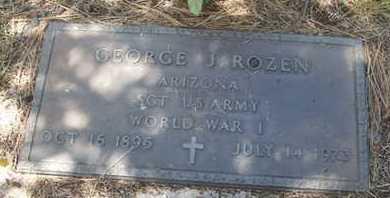 ROZEN, GEORGE J - Coconino County, Arizona   GEORGE J ROZEN - Arizona Gravestone Photos