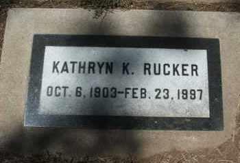 RUCKER, KATHRYN K. - Coconino County, Arizona | KATHRYN K. RUCKER - Arizona Gravestone Photos