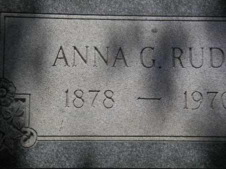 RUDD, ANNA G. - Coconino County, Arizona | ANNA G. RUDD - Arizona Gravestone Photos