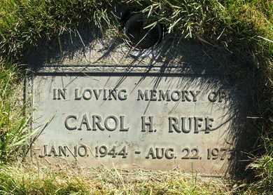 RUFF, CAROL H. - Coconino County, Arizona   CAROL H. RUFF - Arizona Gravestone Photos