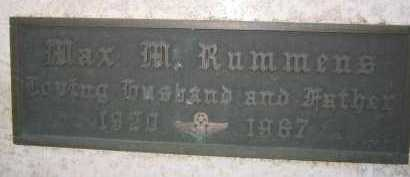 RUMMENS, MAX M. - Coconino County, Arizona | MAX M. RUMMENS - Arizona Gravestone Photos