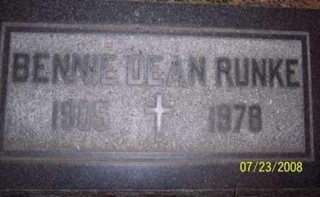 DEAN RUNKE, BENNIE - Coconino County, Arizona | BENNIE DEAN RUNKE - Arizona Gravestone Photos