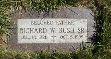 RUSH, RICHARD W., SR. - Coconino County, Arizona   RICHARD W., SR. RUSH - Arizona Gravestone Photos