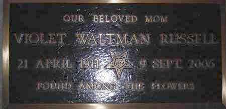 RUSSELL, VIOLET WALTMAN - Coconino County, Arizona   VIOLET WALTMAN RUSSELL - Arizona Gravestone Photos