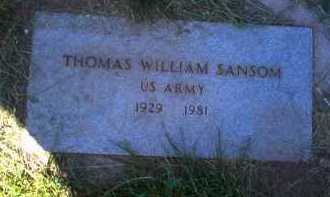 SANSOM, THOMAS WILLIAM - Coconino County, Arizona | THOMAS WILLIAM SANSOM - Arizona Gravestone Photos