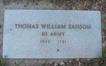 SANSOM, THOMAS WILLIAM - Coconino County, Arizona | THOMAS WILLIAM SANSOM - Arizona Gravestone Photos
