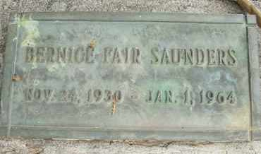 FAIR SAUNDERS, BERNICE - Coconino County, Arizona | BERNICE FAIR SAUNDERS - Arizona Gravestone Photos