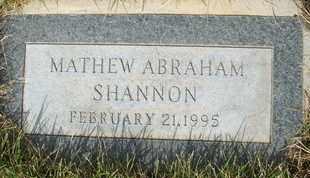 SHANNON, MATHEW ABRAHAM - Coconino County, Arizona | MATHEW ABRAHAM SHANNON - Arizona Gravestone Photos