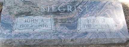 SIEGRIST, JOHN A. - Coconino County, Arizona | JOHN A. SIEGRIST - Arizona Gravestone Photos