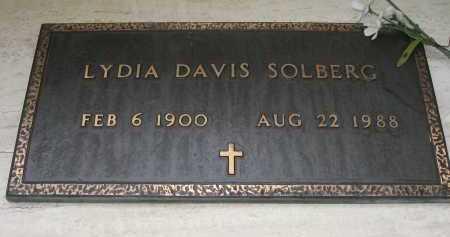 SOLBERG, LYDIA DAVIS - Coconino County, Arizona   LYDIA DAVIS SOLBERG - Arizona Gravestone Photos