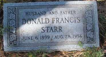 STARR, DONALD FRANCIS - Coconino County, Arizona   DONALD FRANCIS STARR - Arizona Gravestone Photos