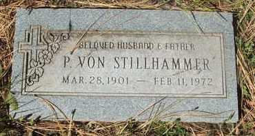 STILLHAMMER, P. VON - Coconino County, Arizona | P. VON STILLHAMMER - Arizona Gravestone Photos
