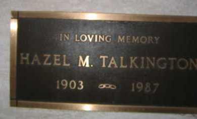 TALKINGTON, HAZEL M. - Coconino County, Arizona   HAZEL M. TALKINGTON - Arizona Gravestone Photos