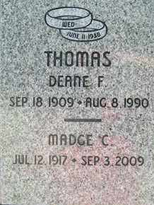 THOMAS, DEANE F. - Coconino County, Arizona | DEANE F. THOMAS - Arizona Gravestone Photos