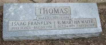 WAITE THOMAS, E. MARTHA - Coconino County, Arizona | E. MARTHA WAITE THOMAS - Arizona Gravestone Photos