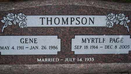 THOMPSON, MYRTLE PAGE - Coconino County, Arizona   MYRTLE PAGE THOMPSON - Arizona Gravestone Photos