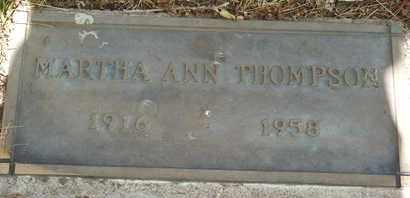 THOMPSON, MARTHA ANN - Coconino County, Arizona   MARTHA ANN THOMPSON - Arizona Gravestone Photos