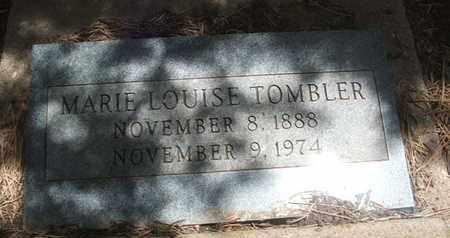 TOMBLER, MARY LOUISE - Coconino County, Arizona | MARY LOUISE TOMBLER - Arizona Gravestone Photos