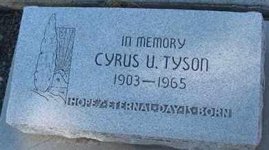 TYSON, CYRUS U. - Coconino County, Arizona   CYRUS U. TYSON - Arizona Gravestone Photos